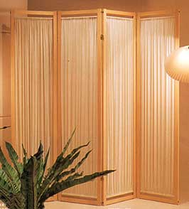 Room Dividers Wooden and Bamboo folding screens