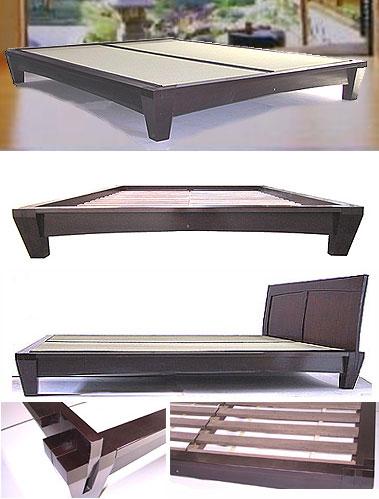yamaguchi platform bed frame dark walnut