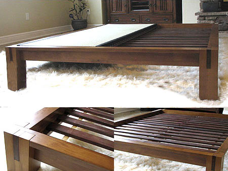 tall tatami platform bed frame honey oak