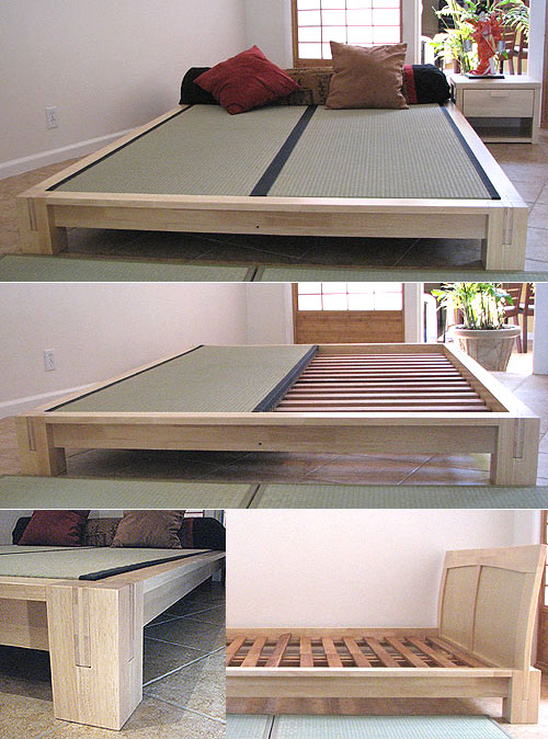 tatami platform bed frame natural finish