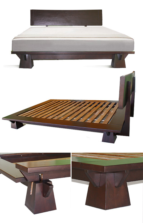 Platform Beds - Low Platform Beds, Japanese Solid Wood Bed ...