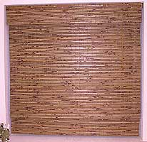Burnt Bamboo Slats Blinds, Roman Type with valence