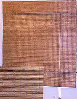 Hosoy Matchstick Blinds, Roman Type with valence