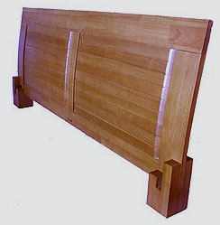 magari platform headboard honey oak