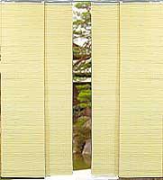 Bamboo Layered Slats Sliding Blinds Natural