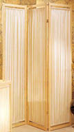 71inch 3 Panel Fabric Wooden Divider