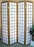 71inch Checker-board Pattern 4 Panel Shoji Screen