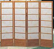 60inch Botanic 4 Panel Shoji Screen
