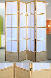 79inch Double-Sided 4 Panel Contempo Shoji Screen