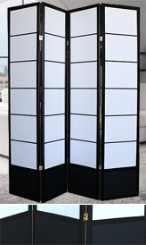 79inch Double-Sided 4 Panel Euro Shoji Screen