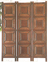 71inch Savannah Rattan Wooden 3 panel Screen