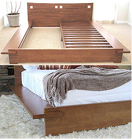 Zen Platform Bed Frame Honey Oak