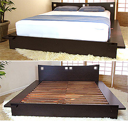 Japanese Platform Bed Frames platform beds - low platform beds, japanese solid wood bed frame