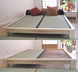Tatami Platform Bed Frame - Natural Finish