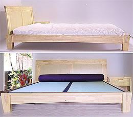 Yamaguchi Platform Bed Frame - Natural Finish