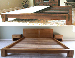 Tatami Platform Bed Frame - Honey Oak