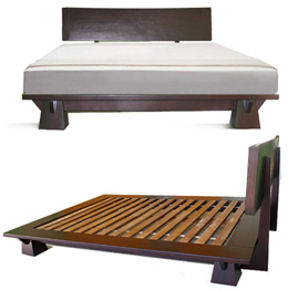 Wakayama Platform Bed Frame - Dark Walnut