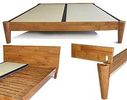 Ensui Platform Bed Frame Honey Oak